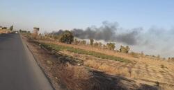 الدفاع تعلن السيطرة على حريق قاعدة بلد الجوية