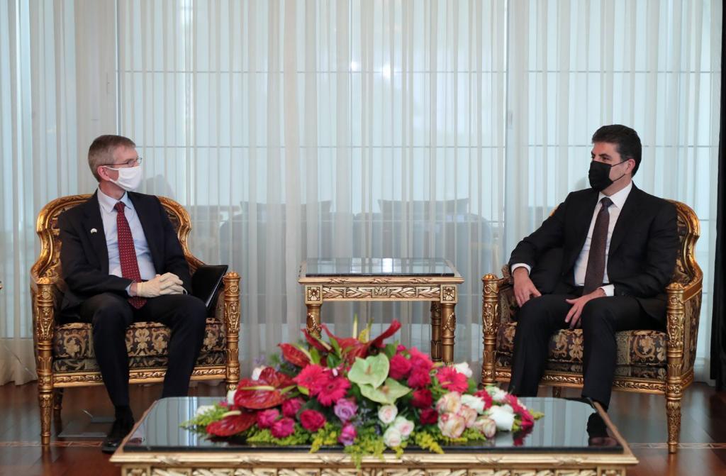 نيجيرفان بارزاني يؤكد على استمرار المساندة الامريكية لإقليم كوردستان