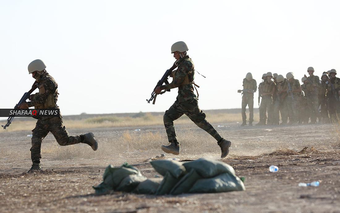 Mortar attack on a town south Baaquba