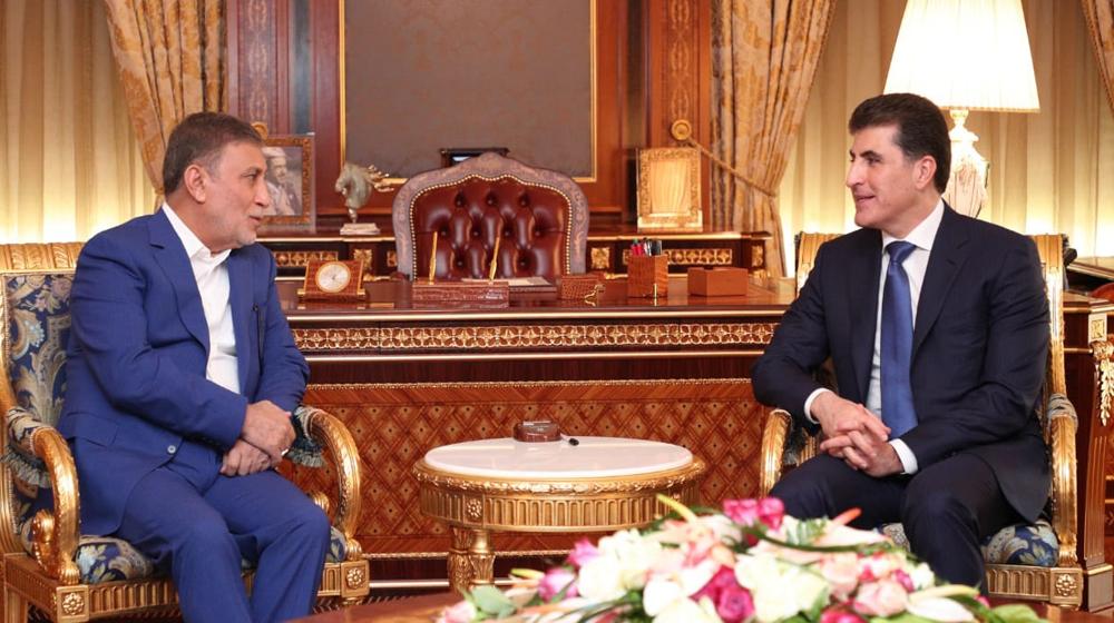رئيس إقليم كوردستان والشابندر يبحثان أوضاع العراق وسوريا