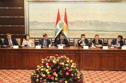 بارزاني ووفد تجاري امريكي يبحثان تنويع مصادر الاقتصاد الكوردستاني