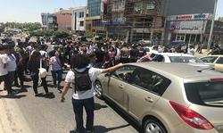 صورة.. تظاهرة طلابية في السليمانية تقطع شارعاً رئيساً