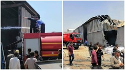 صور .. حريق يأتي على معمل للبلاستيك في اقليم كوردستان ويلحق اضرارا مادية