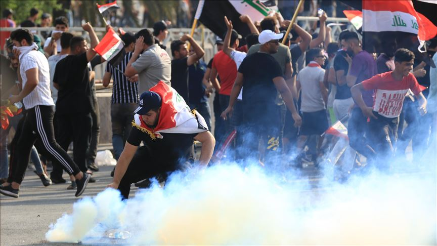 More than 10 people injured while dispersing protests by force in Najaf