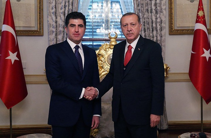 اردوغان يبلغ بارزاني هاتفيا بدعم تركيا لرئاسته