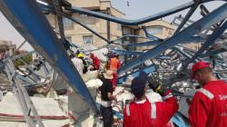 ارتفاع حصيلة ضحايا انهيار المبنى الحكومي بالبصرة بوفاة 3 عمال