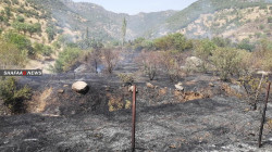 Turkish bombardment causes massive fires in Duhok farms