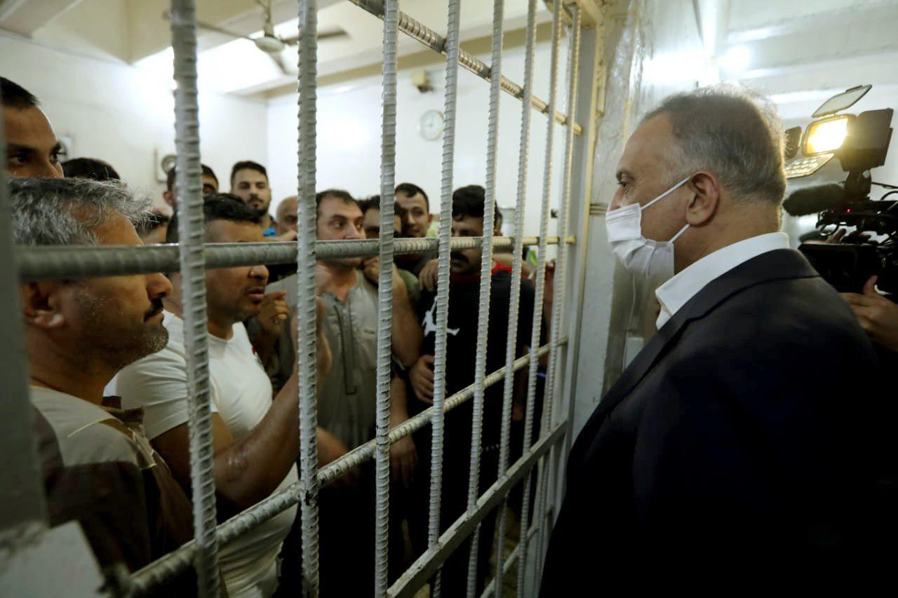 A night visit for Al-Kadhimi to a central prison