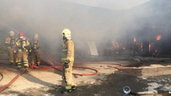 Massive fires broke out in an Iranian industrial city