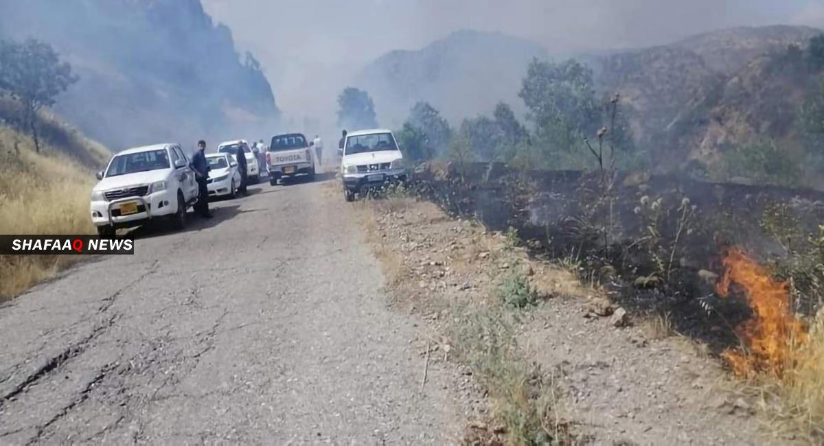 Turkish raids in Duhok Governorate
