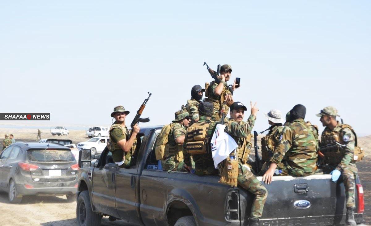 اشتباك مسلح بين الحشد الشعبي وداعش قرب خانقين