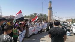 تظاهرات وقطع طرق في ديالى  تطالب بالتعيينات والخدمات