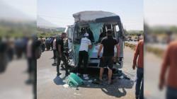 اصابة 15 شخصا بحادث مروع بمنتجع سياحي في السليمانية