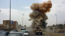 An explosion on the highway west of Baghdad