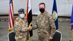 صور .. التحالف الدولي يسلم قاعدة عسكرية في بغداد للقوات العراقية