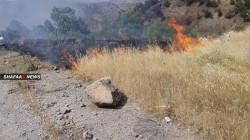 Turkish shelling ignites fire in local farms in Duhok