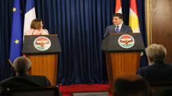 رئيس كوردستان يخطر فرنسا حاجة الإقليم لدعم التحالف الدولي
