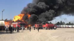 صور .. وفاة اربعة اشخاص حرقا بحادث مروع على طريق منتجع سياحي بالسليمانية