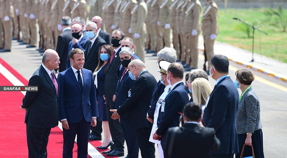 العراق يطلب من ماكرون مساعدته لاستعادة الأموال في أوروبا