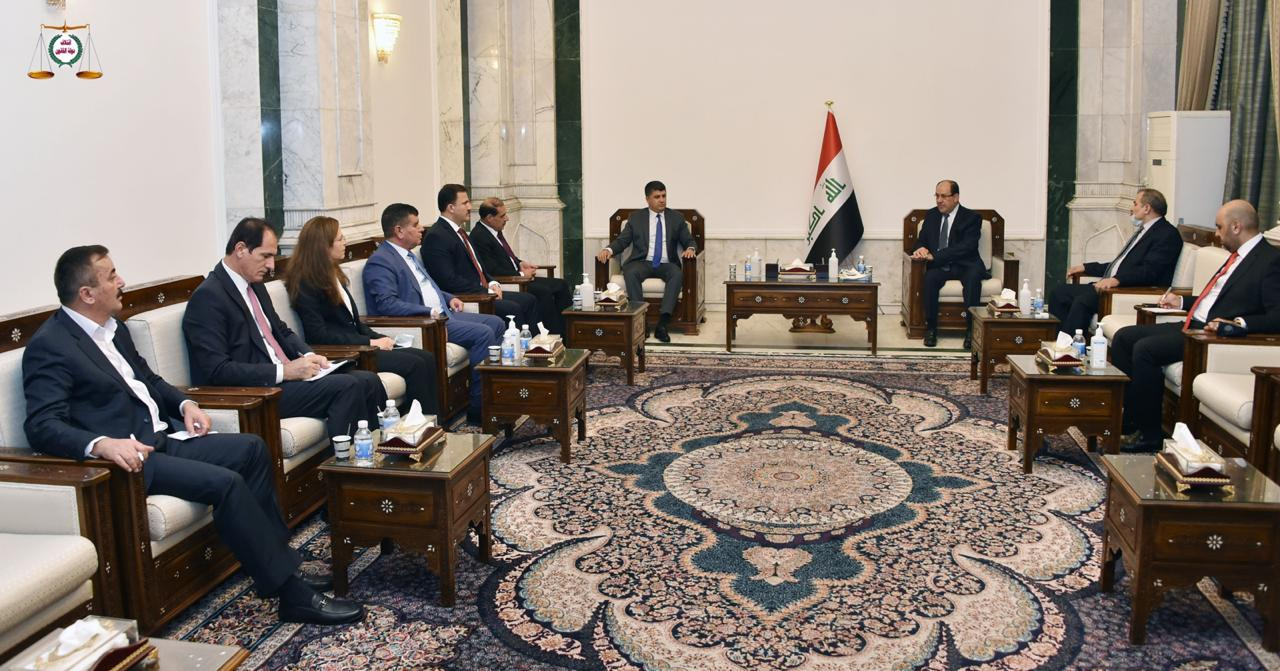 Sheikh Genki meets Al-Maliki in Baghdad