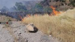 Turkish shelling ignites fires in Duhok