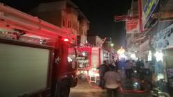 Iraqi Civil Defense team rescue 43 citizens from a burning hotel