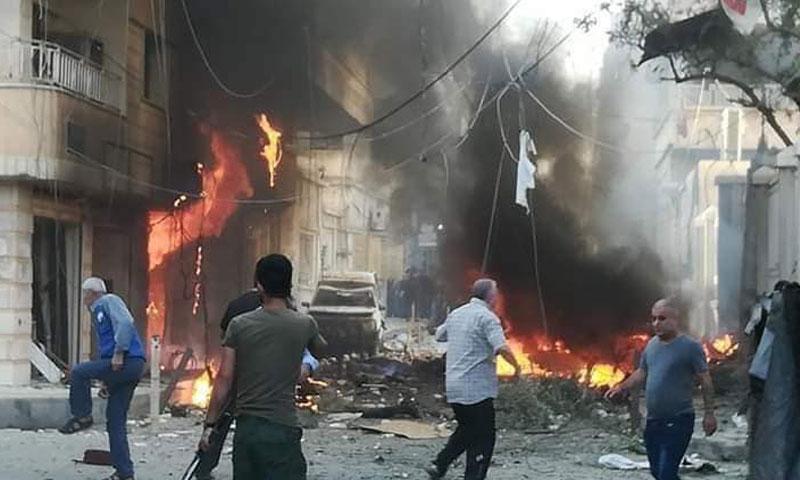 ضحايا بانفجار في مدينة رأس العين بريف الحسكة