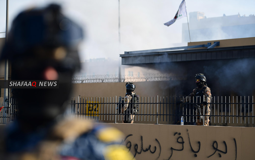 Counter-terrorism forces carry out a special drill in the vicinity of Baghdad Airport