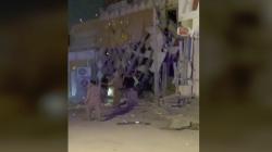 فيديو.. انفجار يستهدف المعهد الامريكي في محافظة النجف