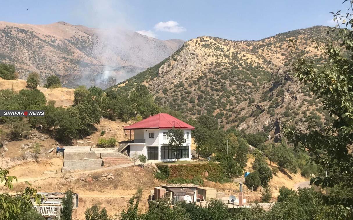 Turkish army attacks a village in Duhok with heavy Machine gun
