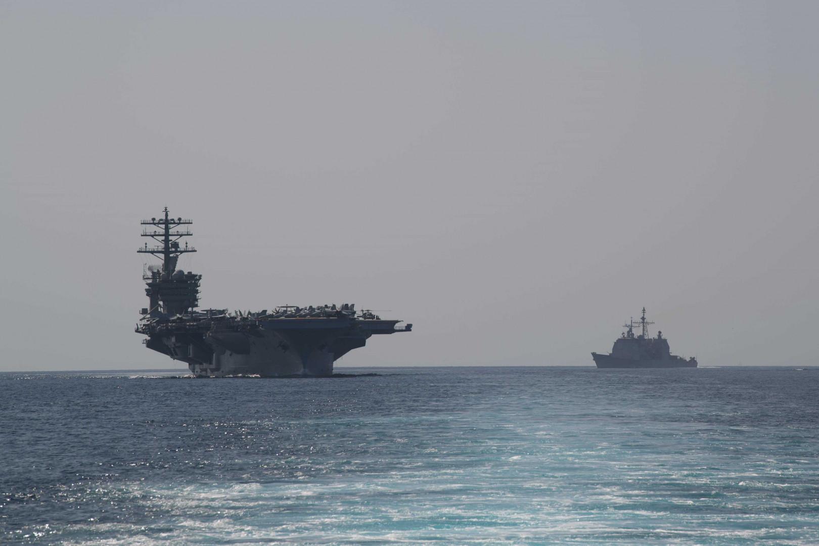 US carrier enters Gulf amid sanctions threats toward Iran