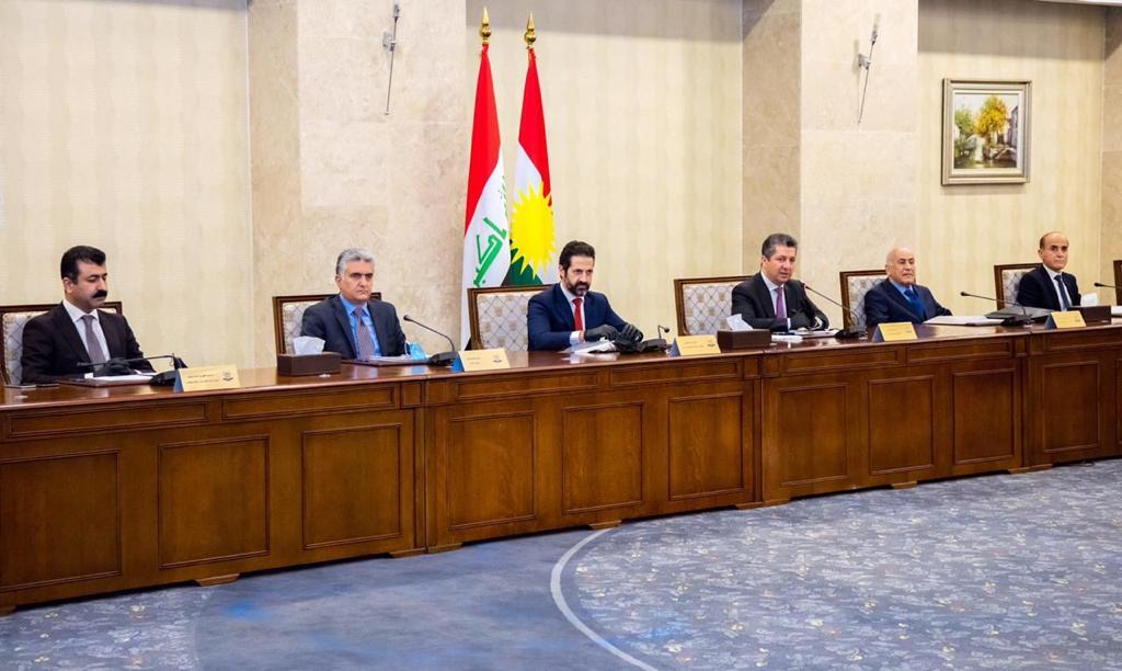 5 ملفات على طاولة الجلسة الأسبوعية لحكومة كوردستان