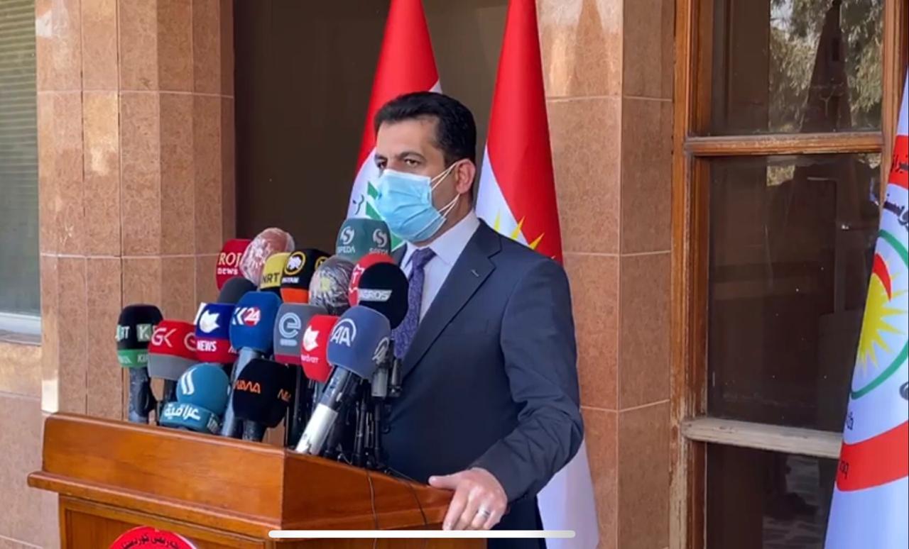 وزير الصحة في إقليم كوردستان يقدمُّ تقريراً عن كورونا  للجنة العليا