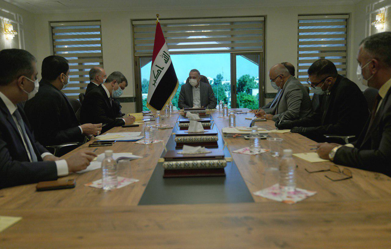 """Iraq is sliding in a """"Wrong Course"""", Al-Kadhimi in a meeting with Ministers and Senior officials 1602425663588"""