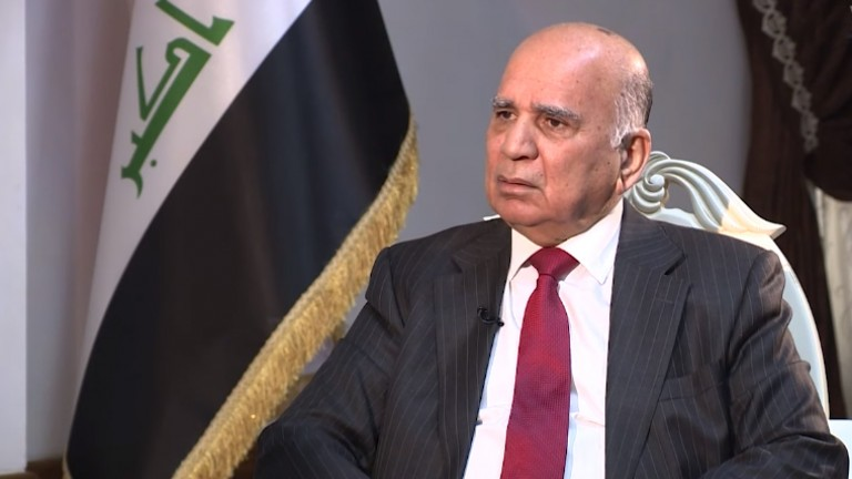 Iraqi Minister of Foreign affairs arrives in Cairo 1602429766396