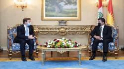 Nechirvan Barzani hosts the British Ambassador to Iraq
