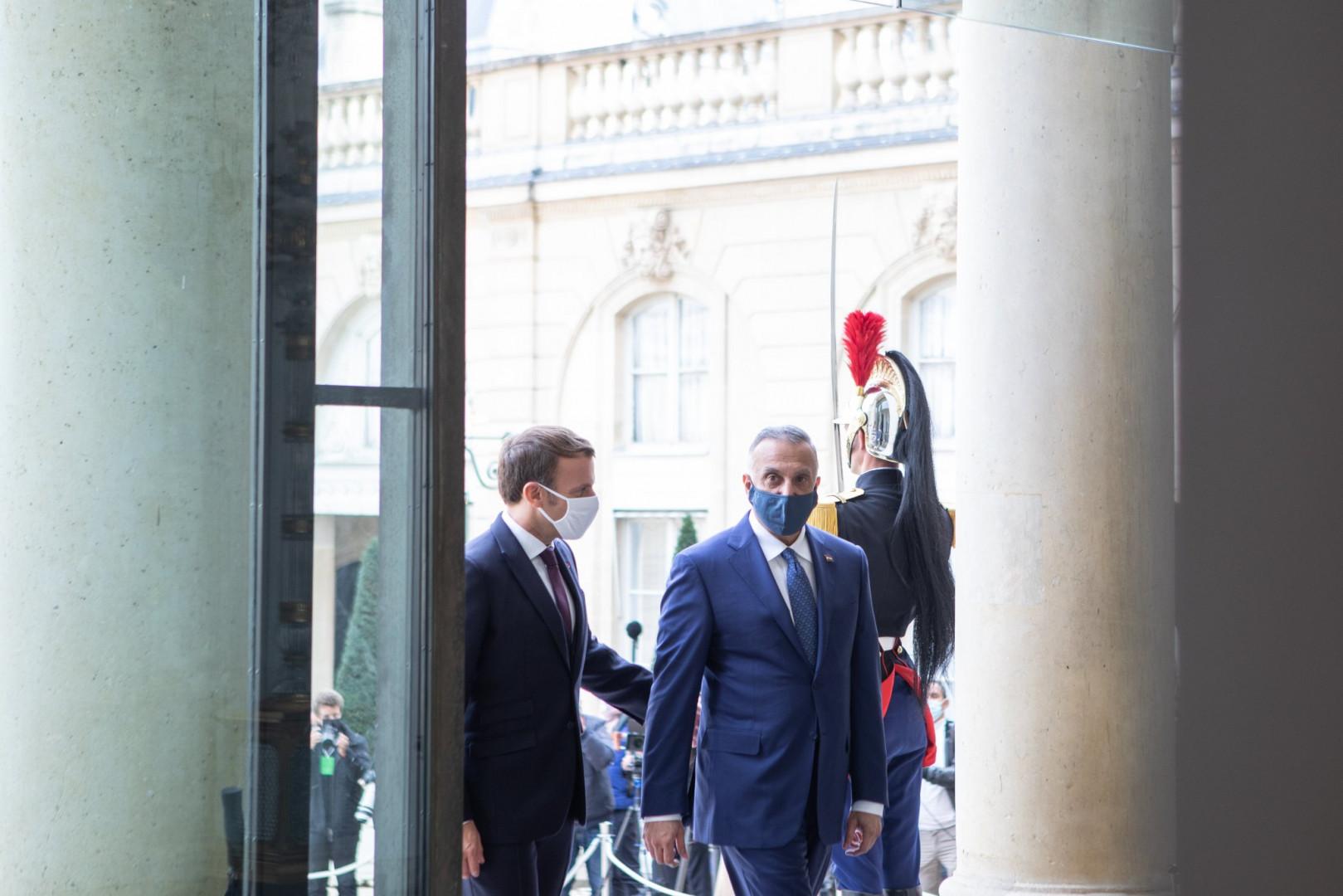 "Macron : combatting ""Islamic terrorism"" guarantees the sovereignty of Iraq 1603134050383"