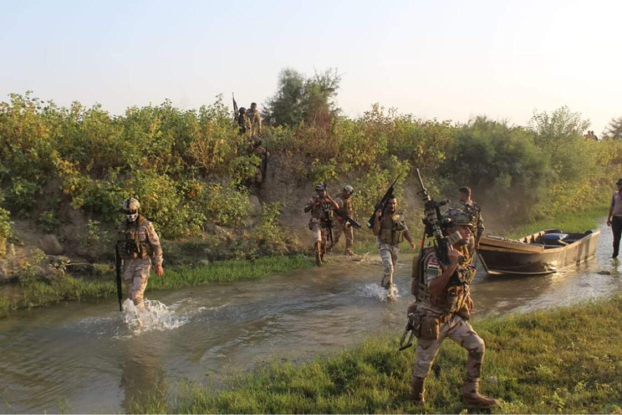 Security forces continue the combing operations of Kanous island