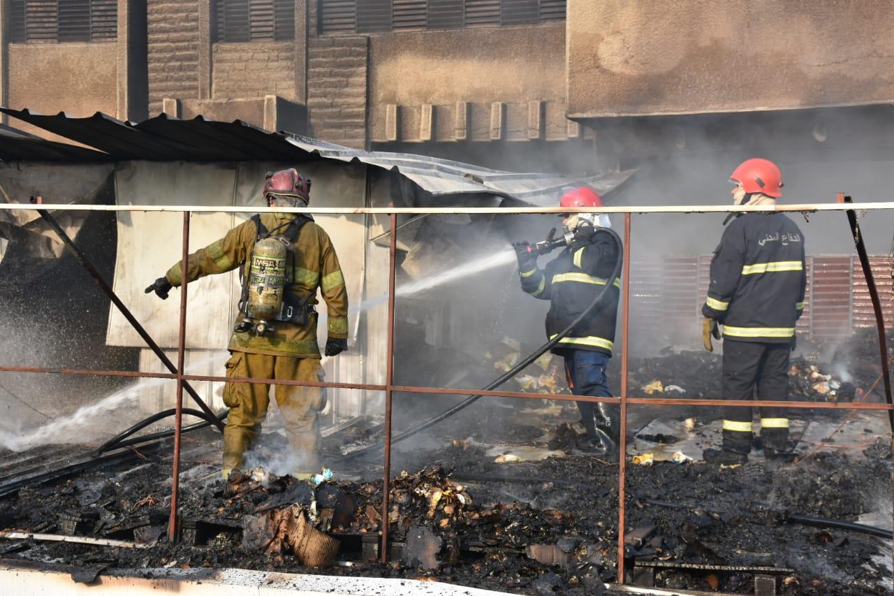 اندلاع حريق في سوق شعبية جنوبي بغداد