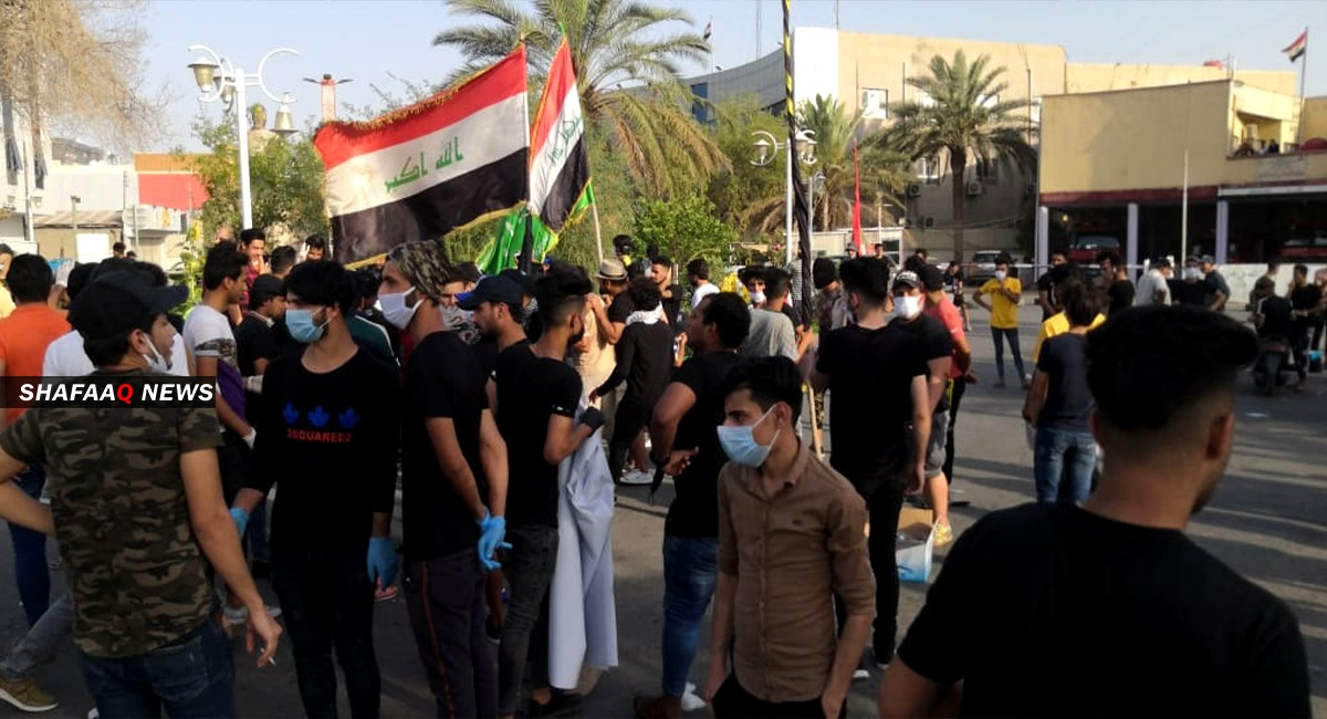 Demonstrators storm the streets of Basra amid heavy security deployment