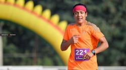 Al-Sulaymaniyah Peshmerga Club player Breaks her own record in 800m race