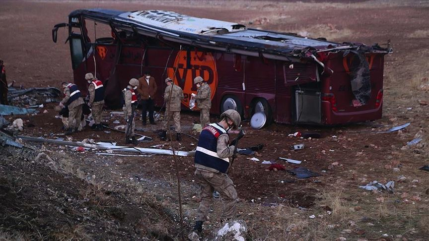 حادث مروع في تركيا يصيب قرابة 30 مسافراً من أهالي السليمانية