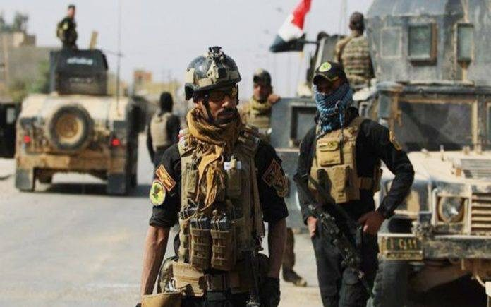 ISIS attacks an Iraqi security force in Baghdad