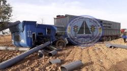 صور .. وفاة ثلاثة اشخاص واصابة آخرين بحادث مروع بمنطقة كوردستانية
