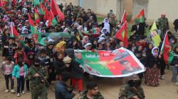 """انصار حزب العمال يتظاهرون بسنجار مطالبين بالافراج عن قتلة """"الشمري"""""""