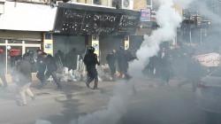 قوات الأمن تفض إحتجاجات بالقوة وسط السليمانية