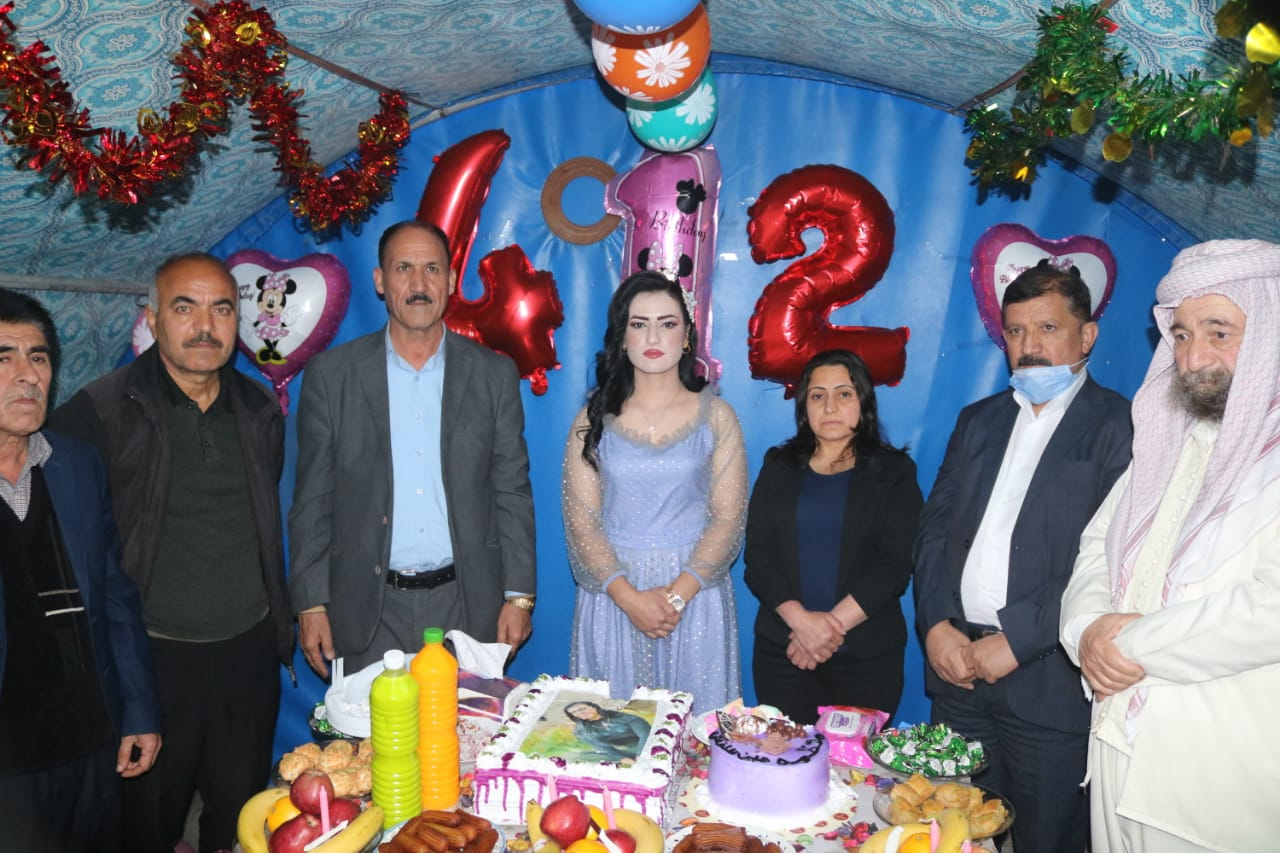 Yazidi girl celebrates the first anniversary of her liberation