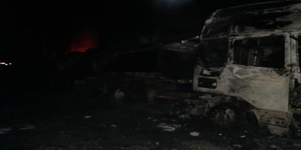 مصابون بينهم طفل بإندلاع حريق في محطة نفطية في أربيل
