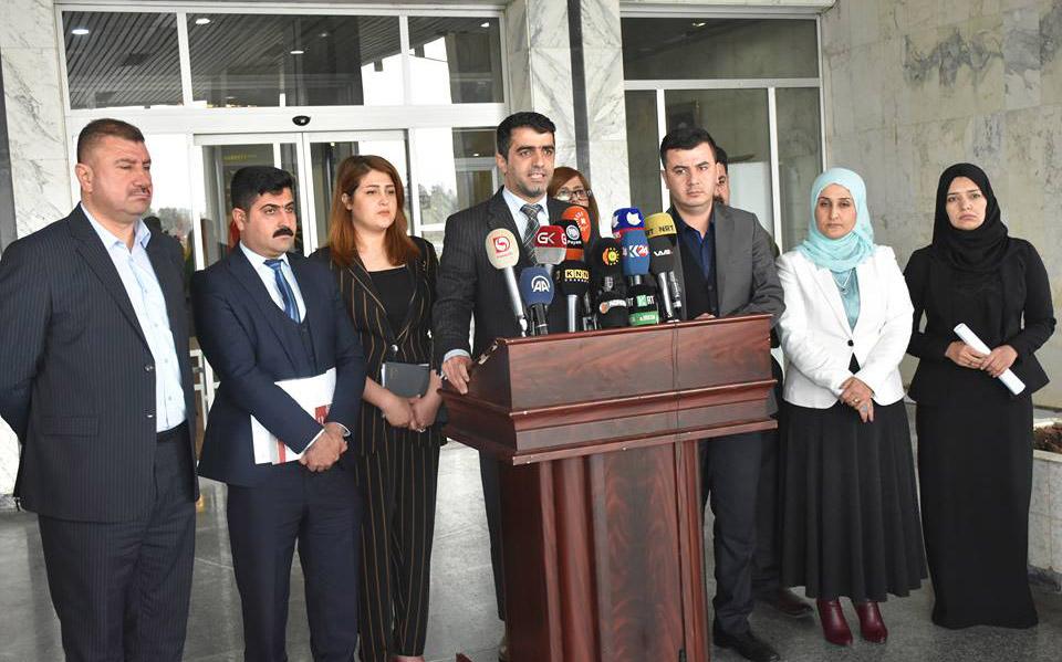 اعضاء معتصمون في برلمان اقليم كوردستان يخفقون في جمع تواقيع لعقد جلسة خاصة