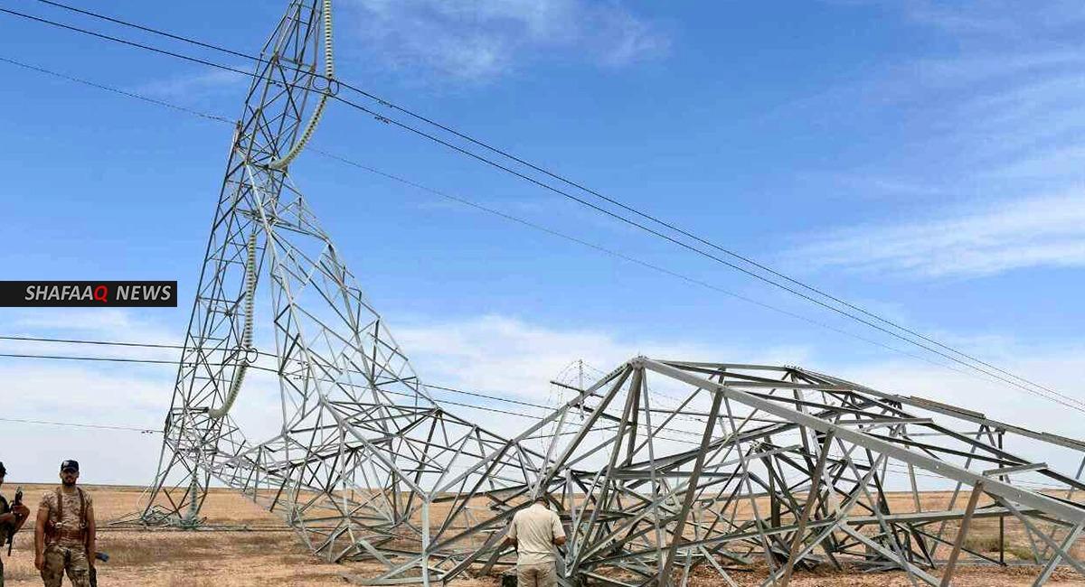 انقطاع الكهرباء عن  70% من مناطق ديالى جراء تفجير أحد أبراج الطاقة